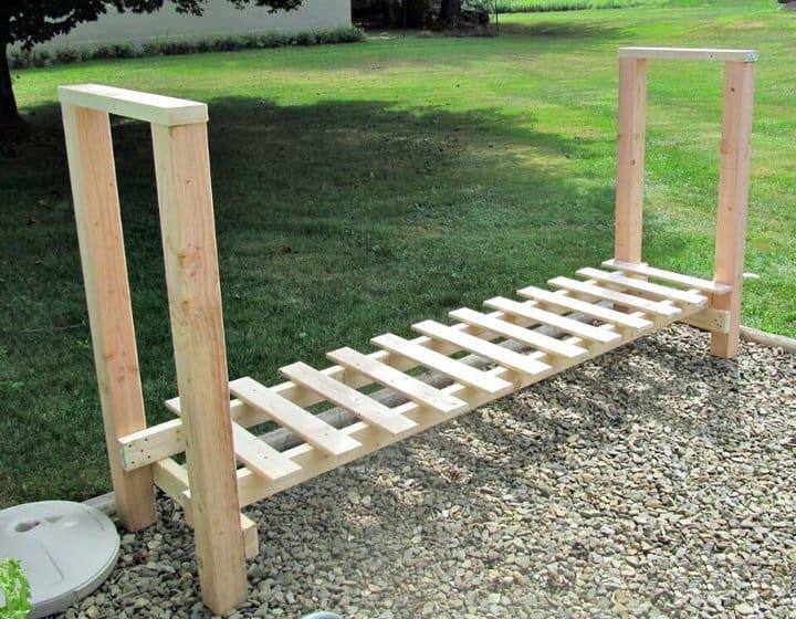 Estante de leña de bricolaje para almacenamiento de madera