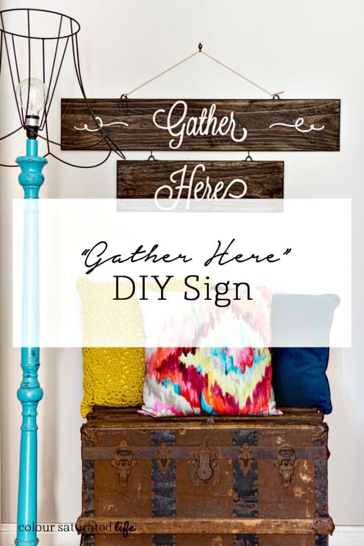 """Cómo hacer el letrero """"Reúnanse aquí"""": bricolaje"""