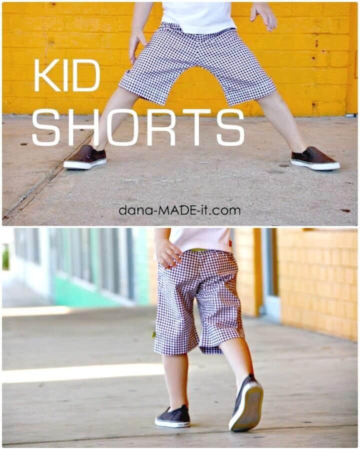 Cómo hacer pantalones cortos para niños: atuendos de bricolaje para el verano