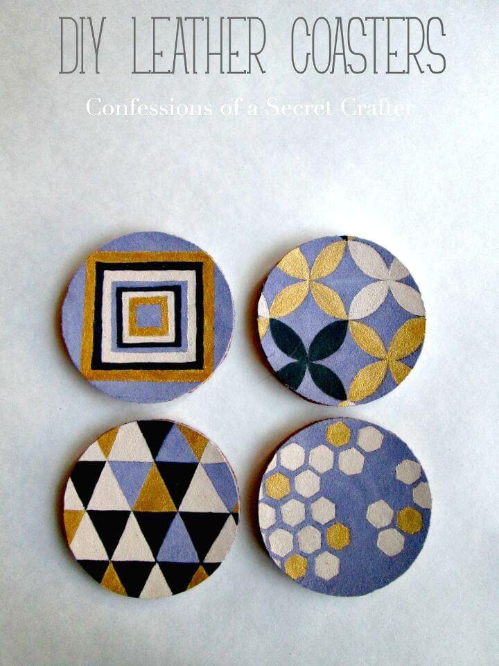 Posavasos de cuero de bricolaje simples