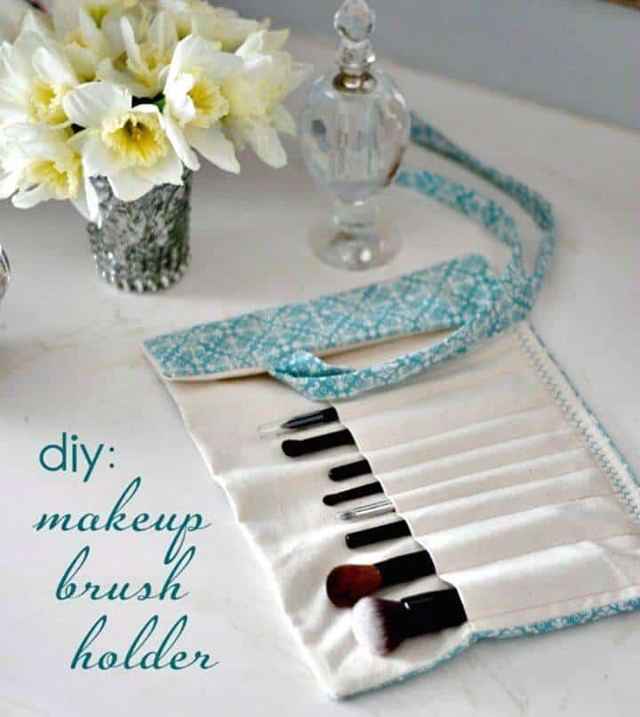 Cómo hacer un soporte para pinceles de maquillaje - Organizador de maquillaje de bricolaje