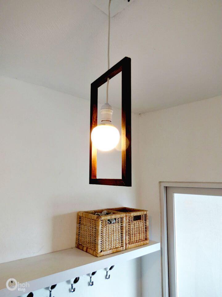 Tutorial de lámpara de entrada colgante de marco mínimo fácil de hacer