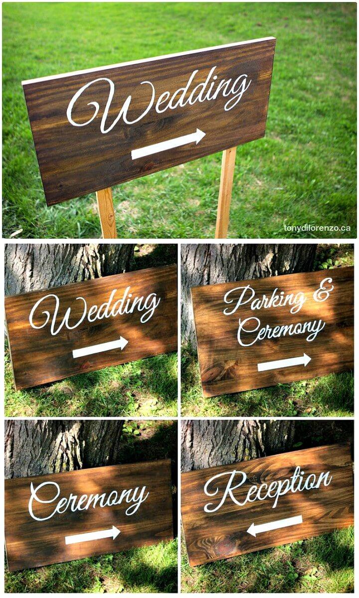 Hacer letreros de dirección de boda pintados - DIY