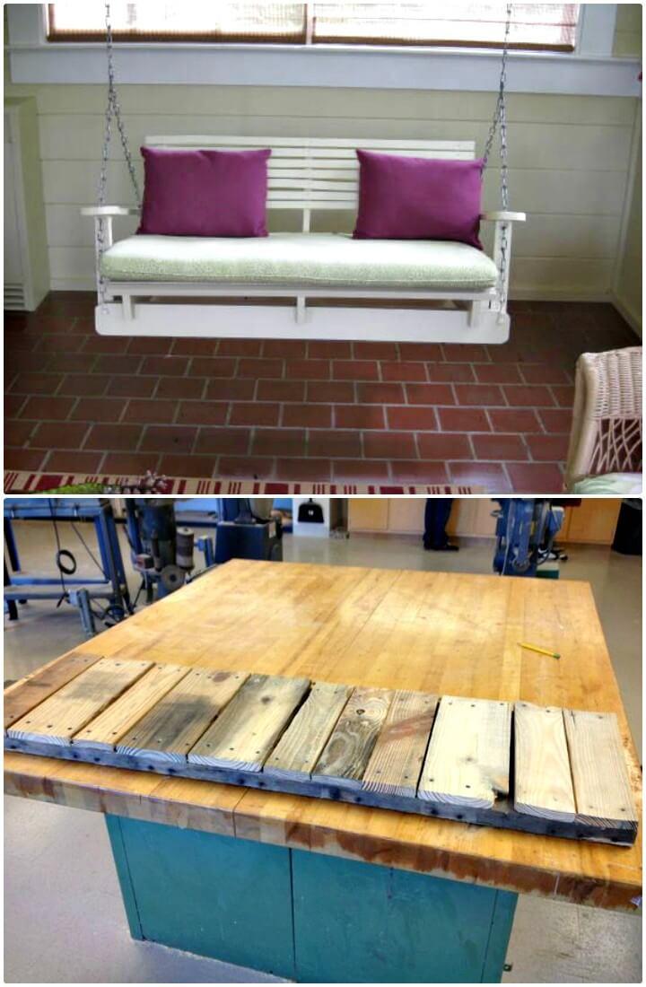 Cómo hacer una silla de columpio con paleta - Ideas de muebles de jardín de bricolaje
