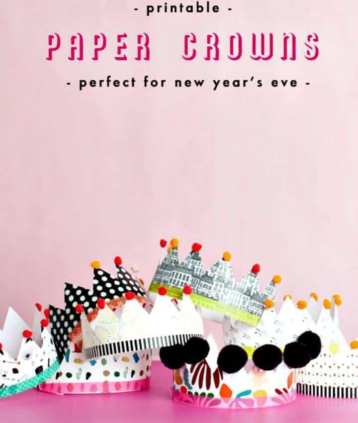 Cómo hacer coronas de papel imprimibles - DIY