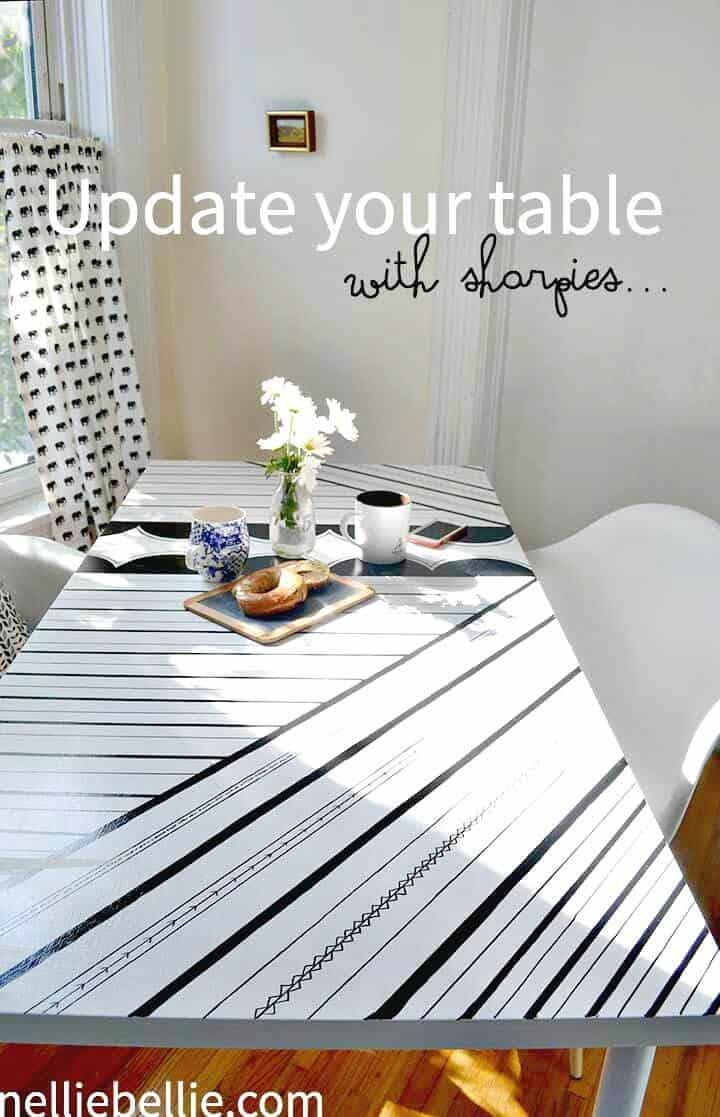 Impresionante mesa decorada con Sharpie DIY
