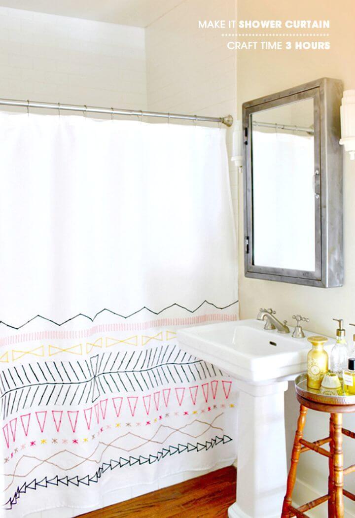 Cómo hacer una cortina de ducha
