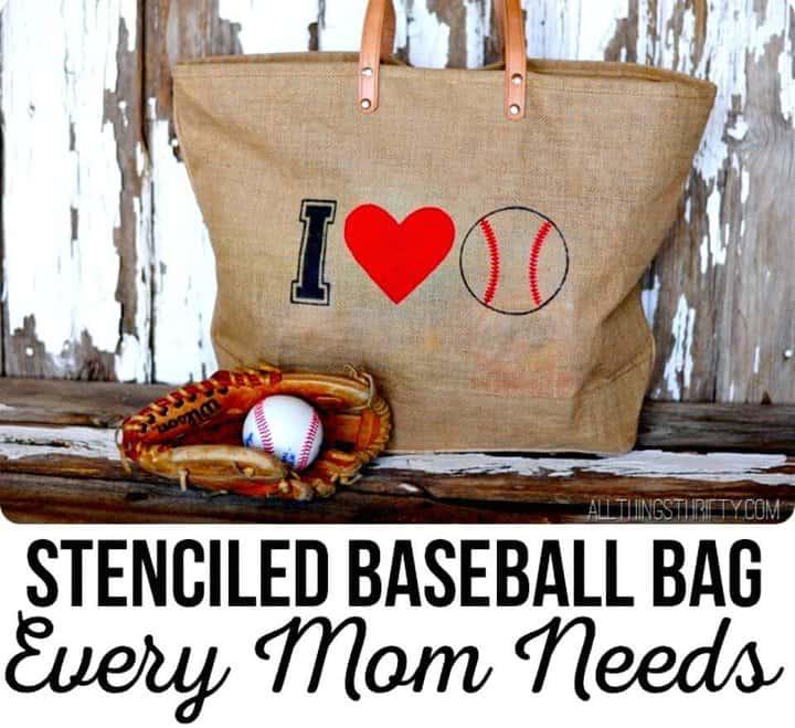 Bolsa de béisbol con estampado fácil de bricolaje