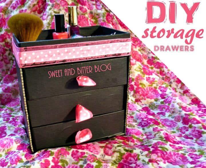 Haga cajones de almacenamiento con Beauty Box - Organizador de maquillaje de bricolaje