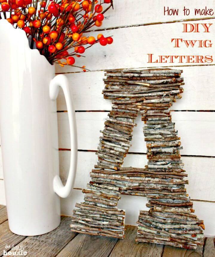 Cómo hacer letras de ramitas de bricolaje