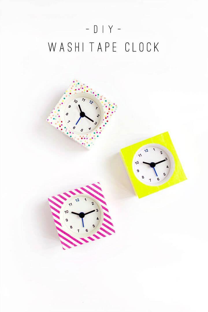 Cómo hacer relojes con cinta washi - bricolaje