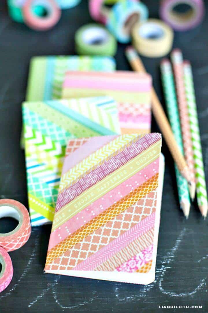 Cómo hacer cuadernos con cinta washi - bricolaje