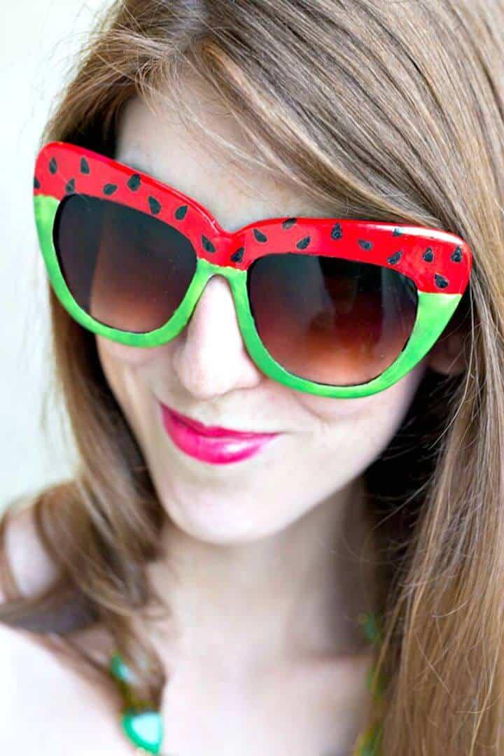 Cómo hacer gafas de sol con forma de sandía: bricolaje