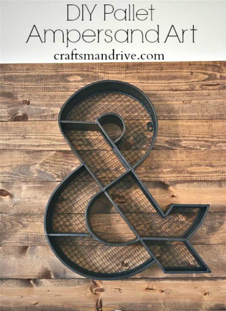 Cómo hacer arte ampersand de paleta de madera - bricolaje