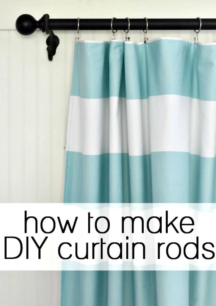 Cómo hacer tus propias barras de cortina