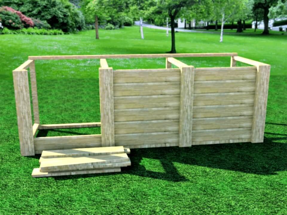 Cómo hacer un contenedor de compostaje para su jardín - Bricolaje