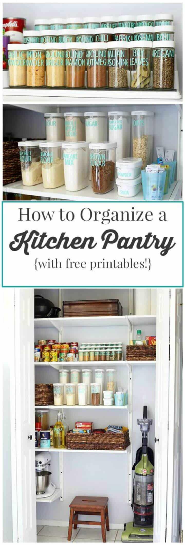 Cómo organizar la despensa de la cocina
