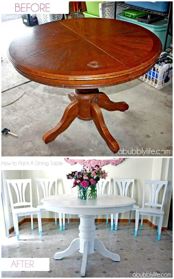 Cómo pintar una mesa de comedor - Tutorial gratuito