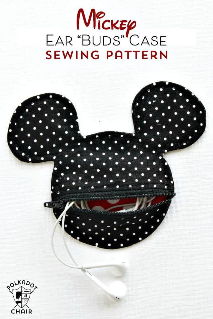 Cómo coser una funda para auriculares inspirada en Mickey Mouse - Bricolaje