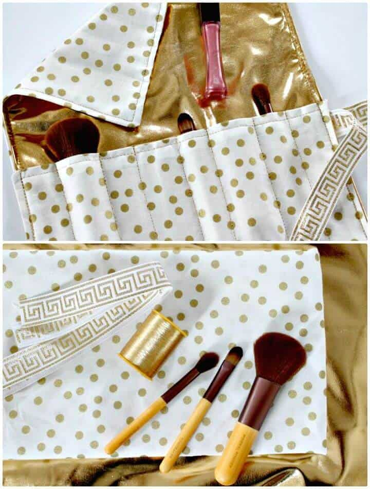 Cómo coser organizador de maquillaje de viaje