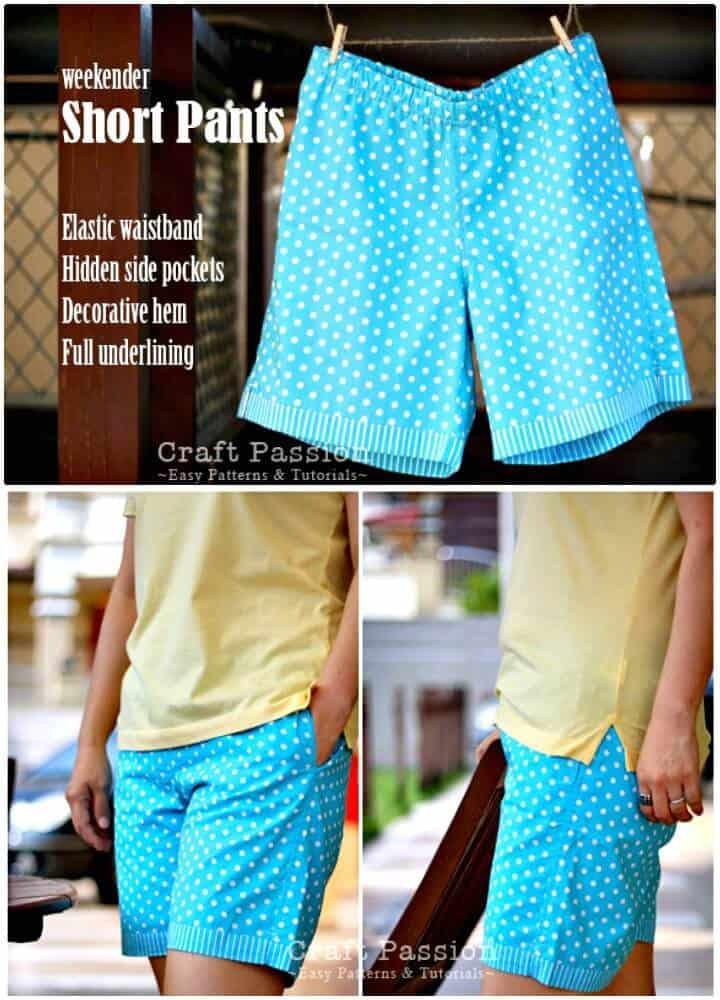 Cómo coser pantalones cortos de fin de semana: trajes de bricolaje para el verano