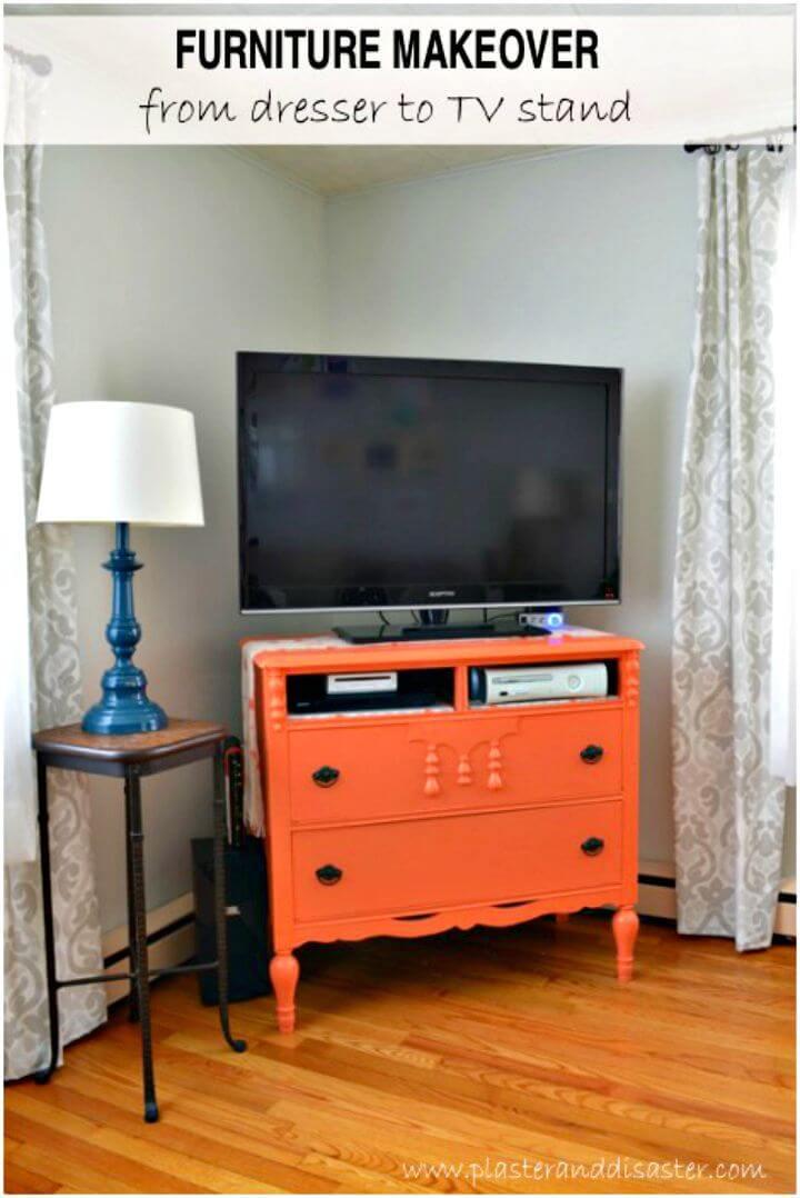 Cómo convertir una cómoda en un mueble de TV