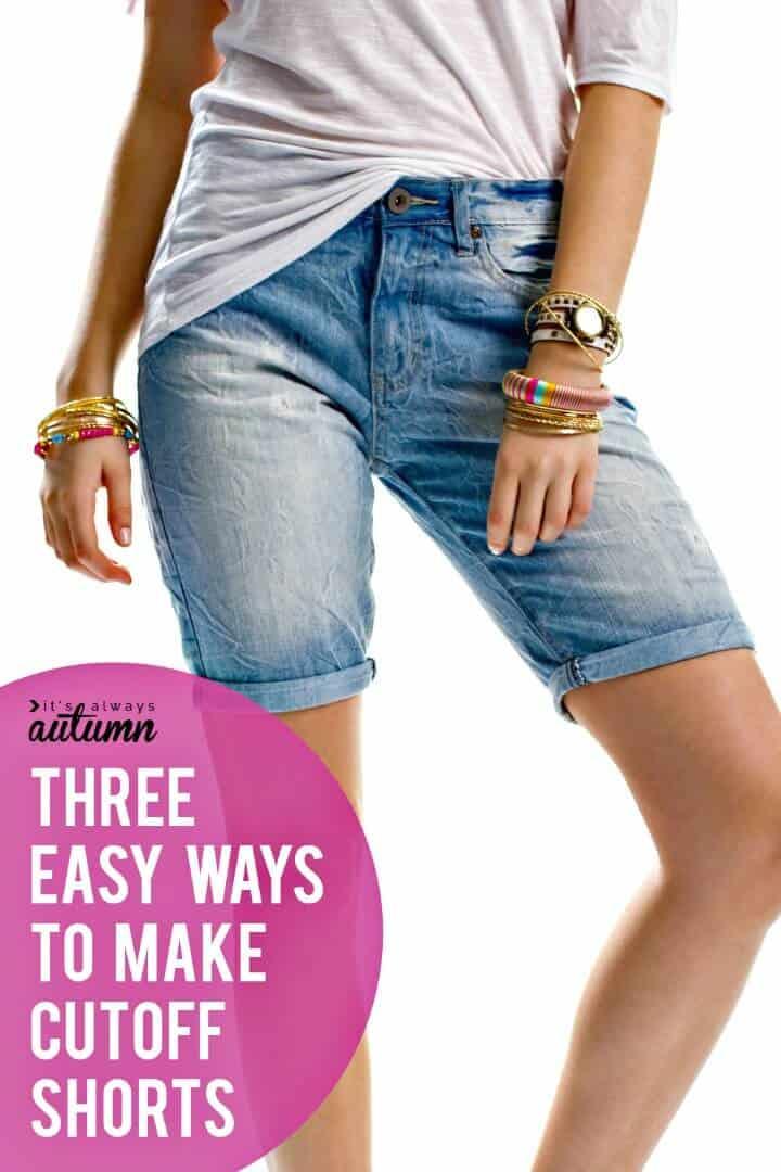 Cómo convertir jeans en pantalones cortos en 20 minutos: bricolaje