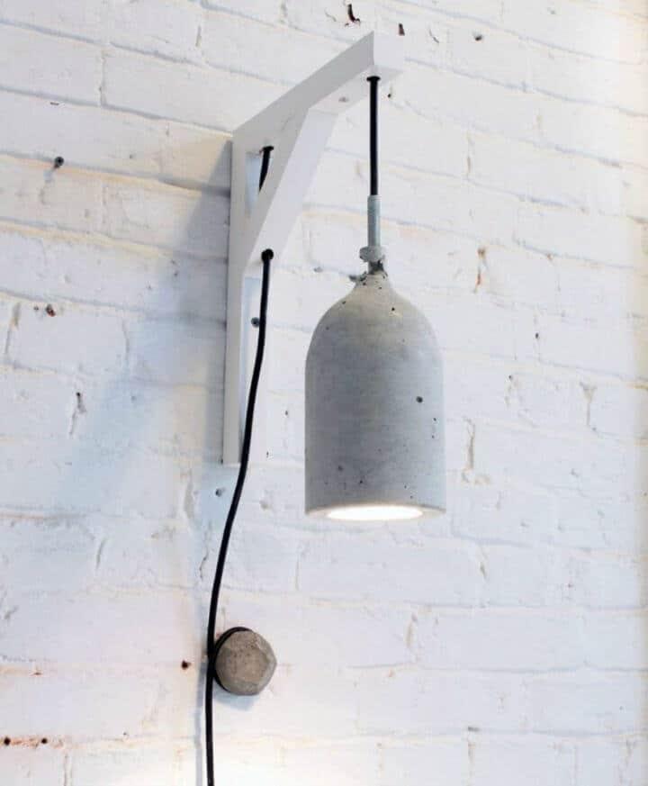 Cómo convertir botellas de plástico en lámparas colgantes de hormigón - Bricolaje