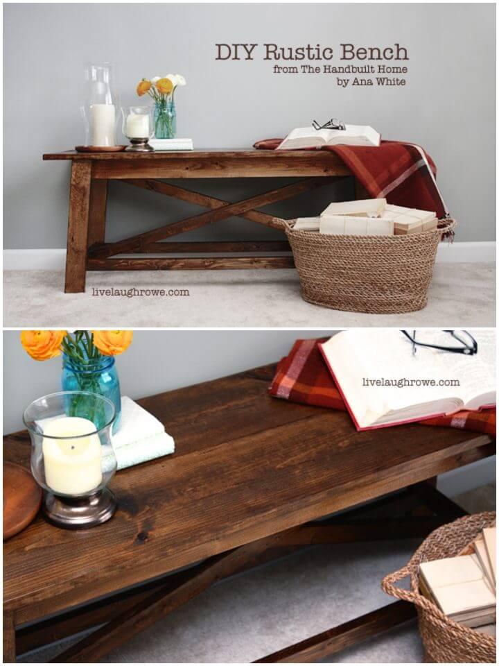Cómo construir un banco de madera rústico