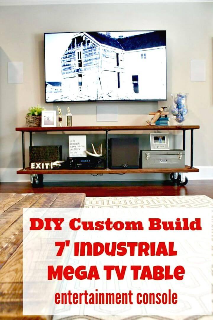 Cómo construir su propia mesa de consola industrial para su televisor