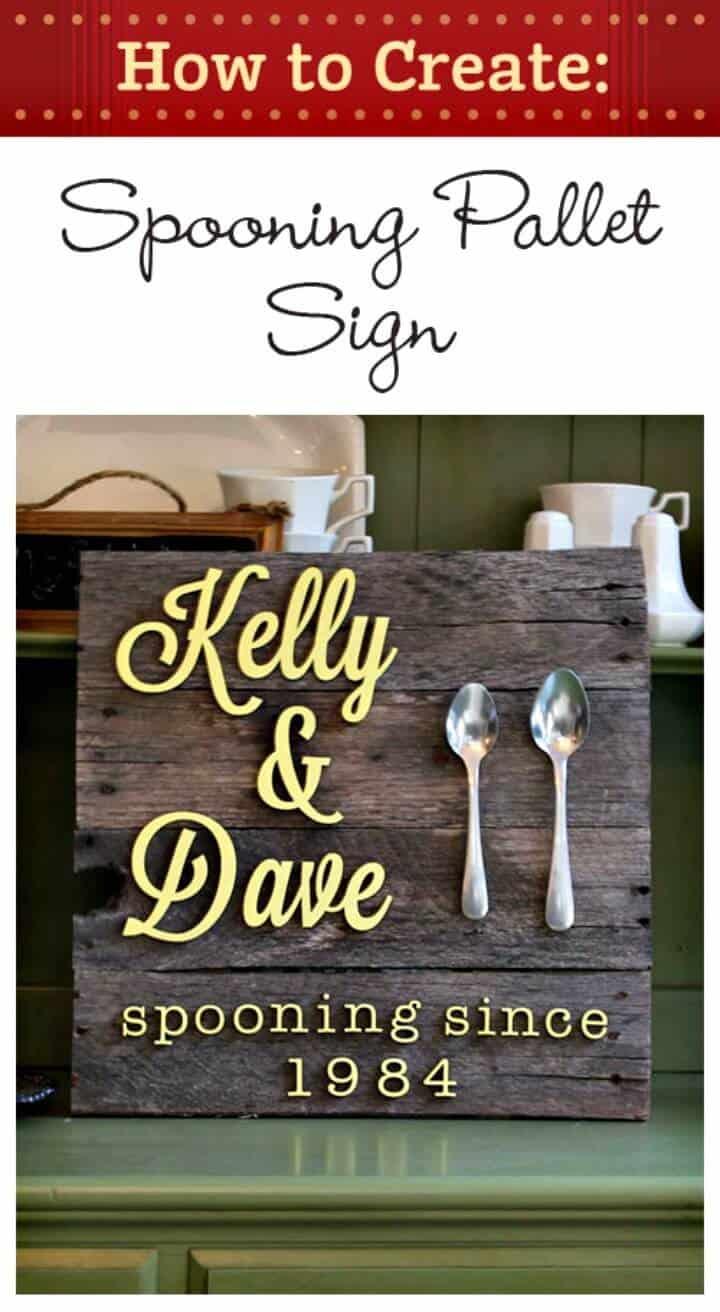 Cómo crear un letrero de paleta de cuchara - bricolaje