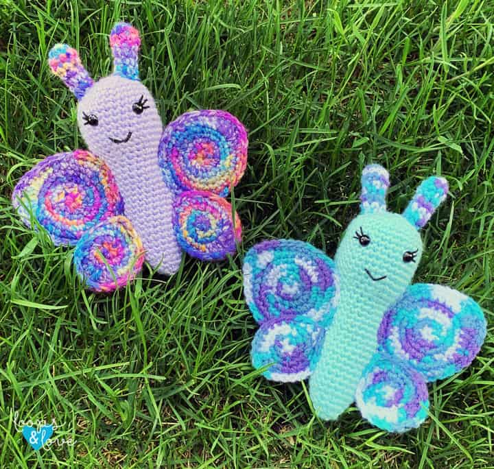 Cómo tejer una mariposa amigurumi a crochet