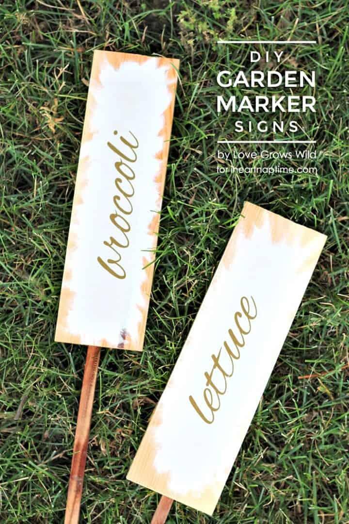 Cómo hacer letreros de marcadores de jardín de bricolaje - Hola verano