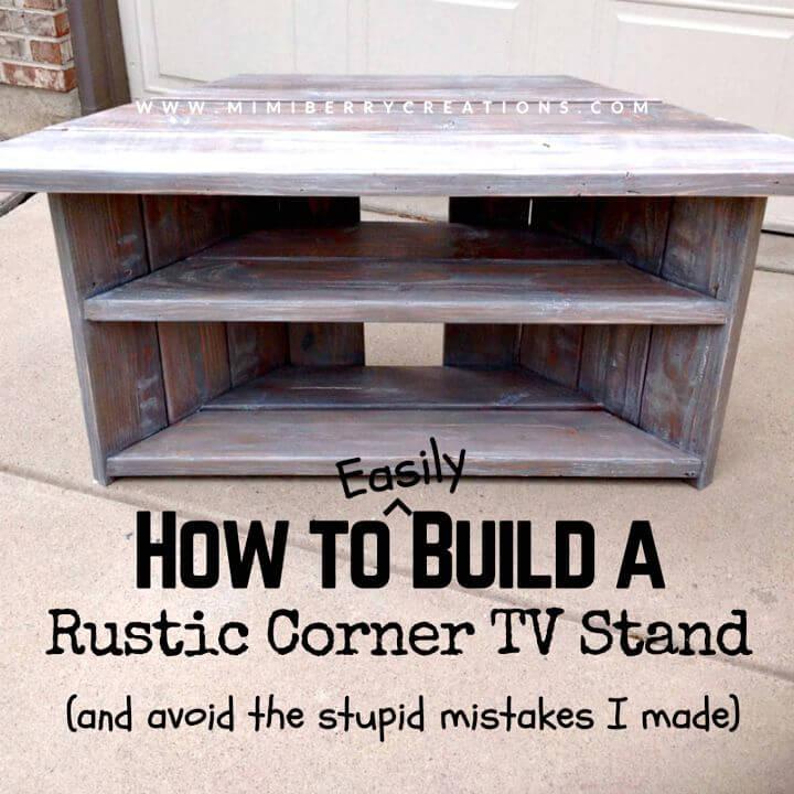 Cómo construir fácilmente un soporte de TV de esquina rústico