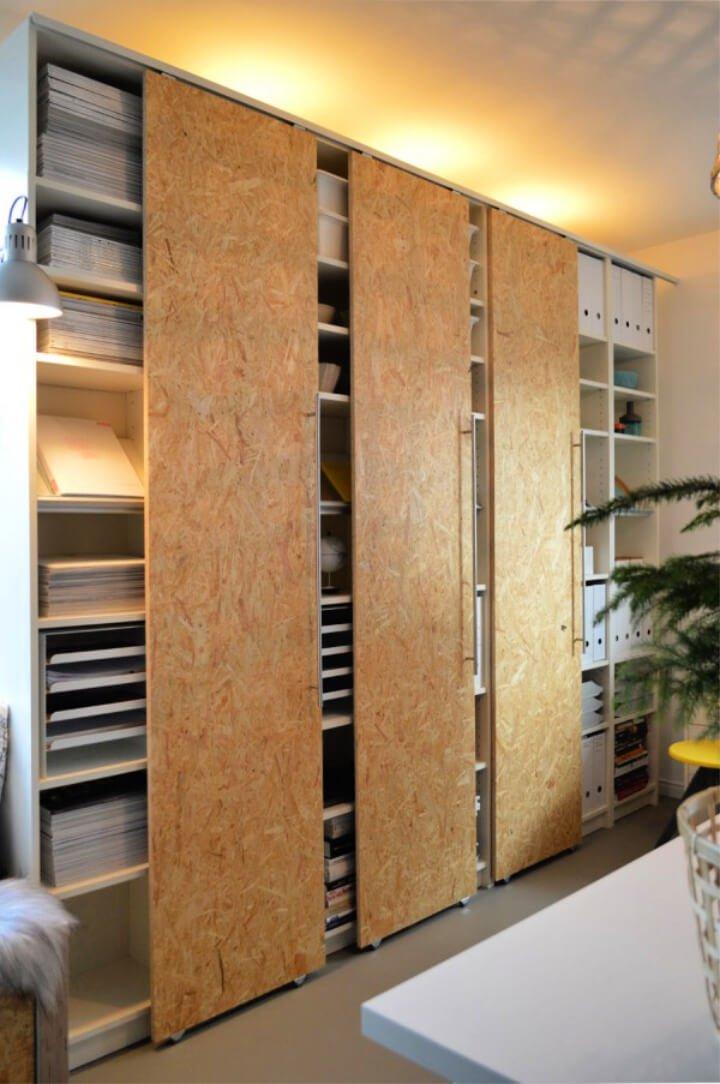 Cómo hackear puertas corredizas para librerías Billy de IKEA