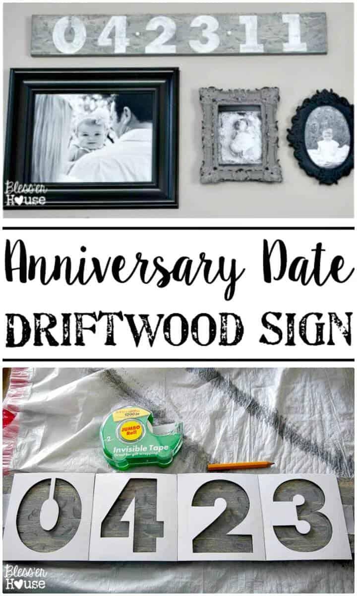 Cómo hacer un letrero de madera flotante con fecha de aniversario - Bricolaje