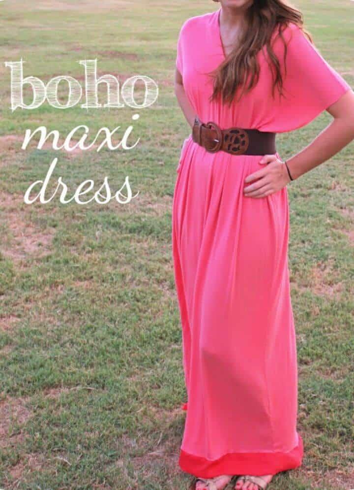 Cómo hacer un vestido largo boho que creará instantáneamente un estilo bohemio con estilo de ti
