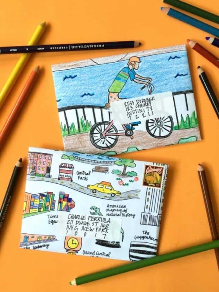 Cómo hacer un sobre colorido