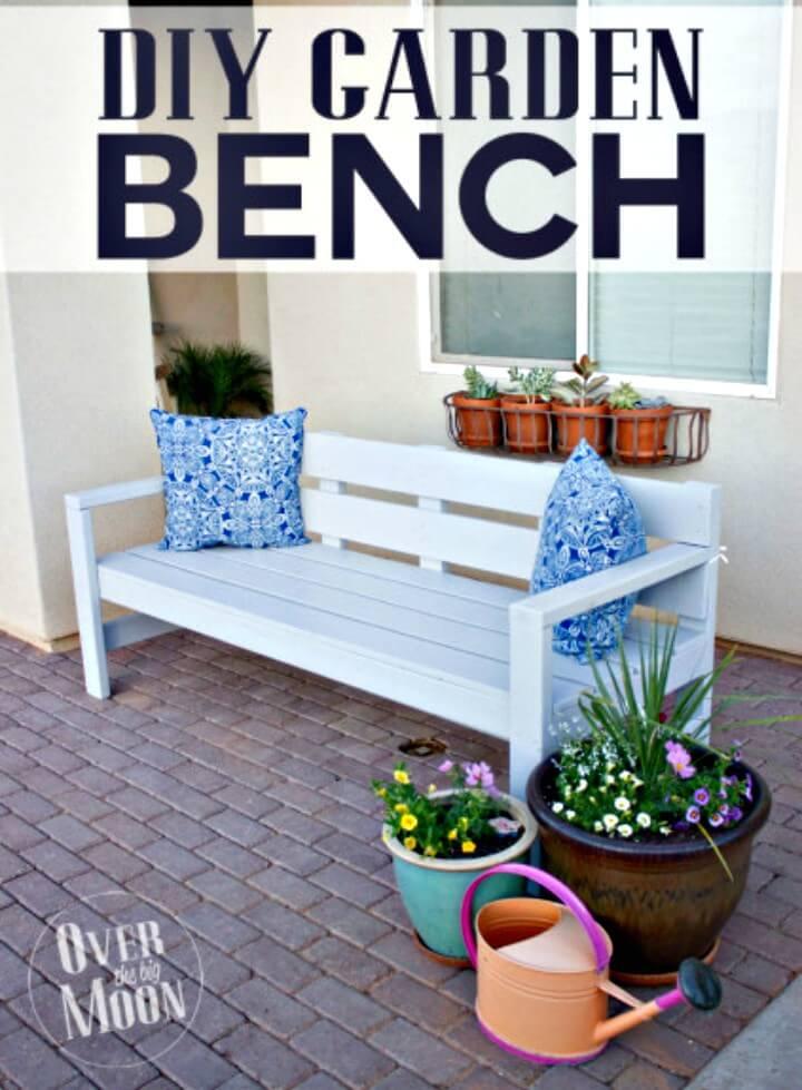 Construya su propio banco de jardín - Ideas de muebles de jardín de bricolaje