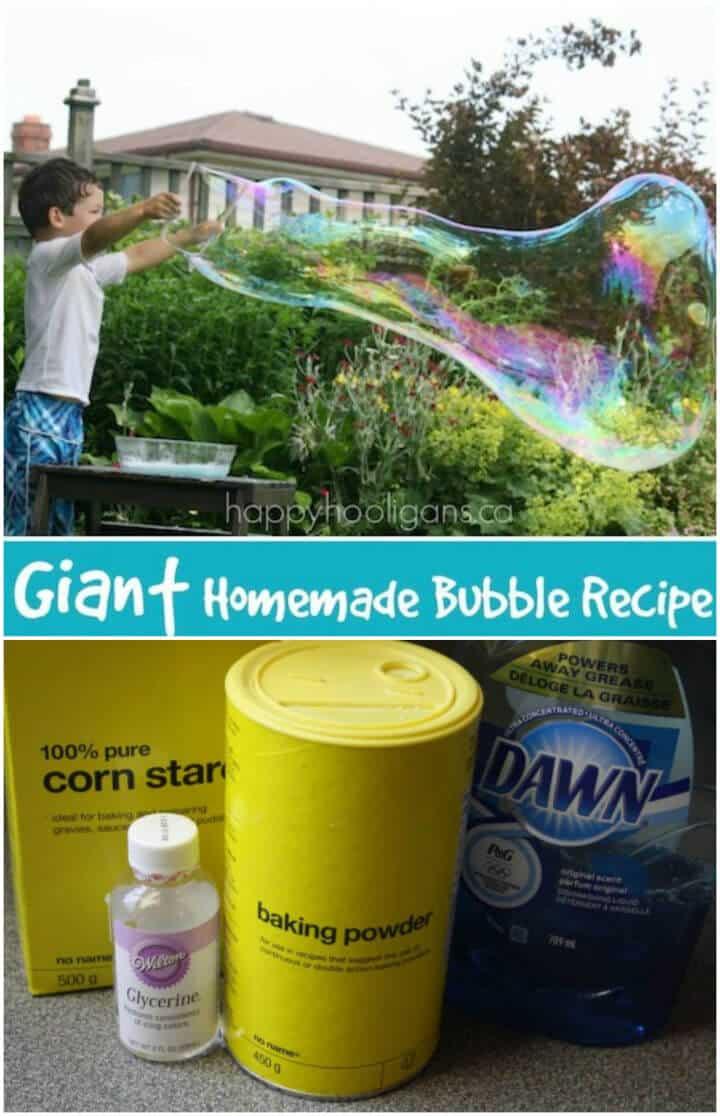 Cómo hacer burbujas gigantes