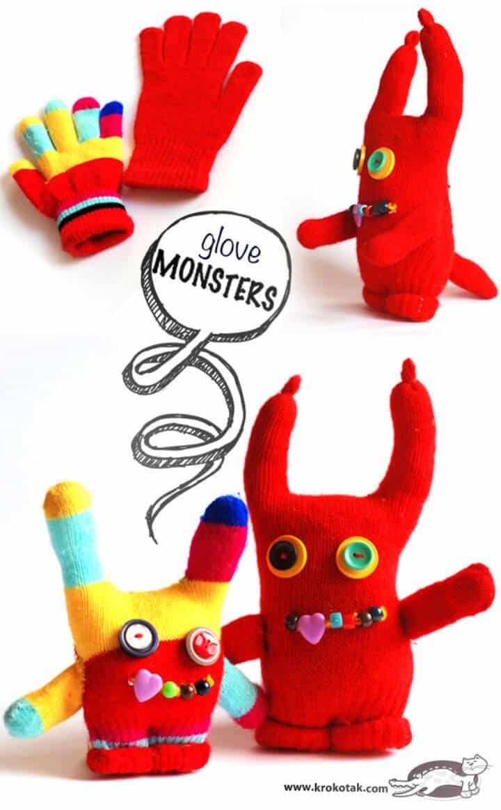 Cómo hacer monstruos de guantes