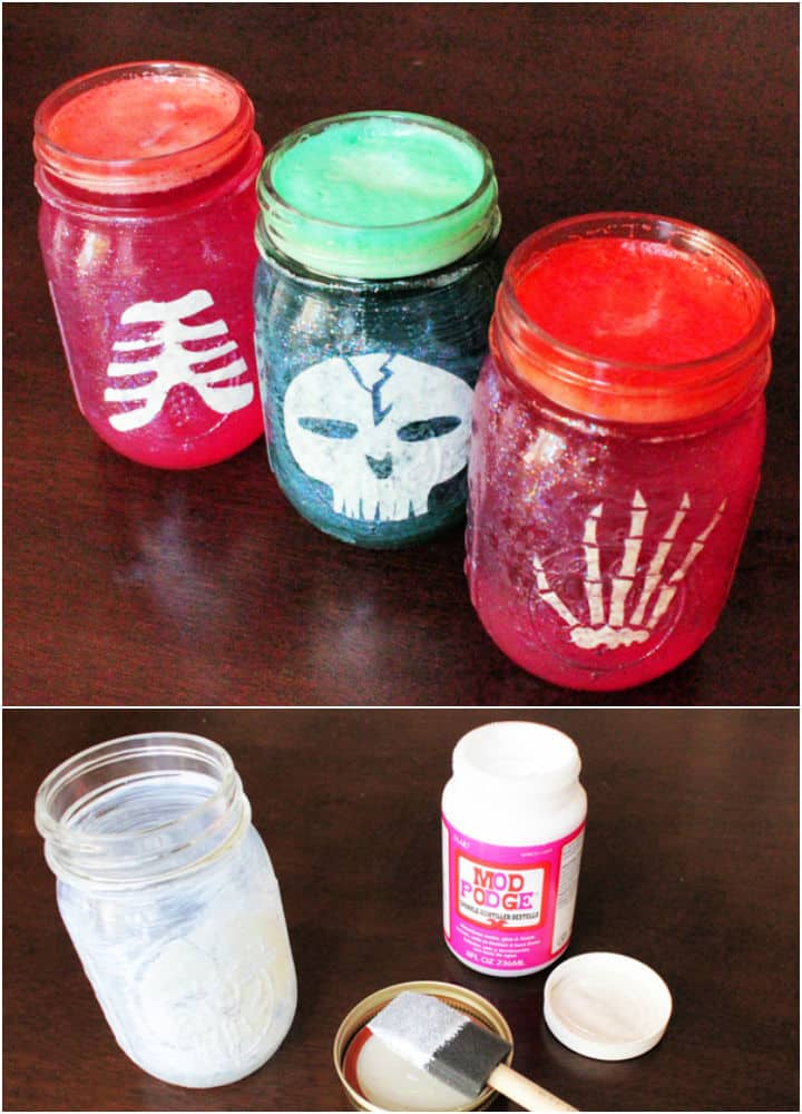 Cómo hacer frascos de fiesta de Halloween