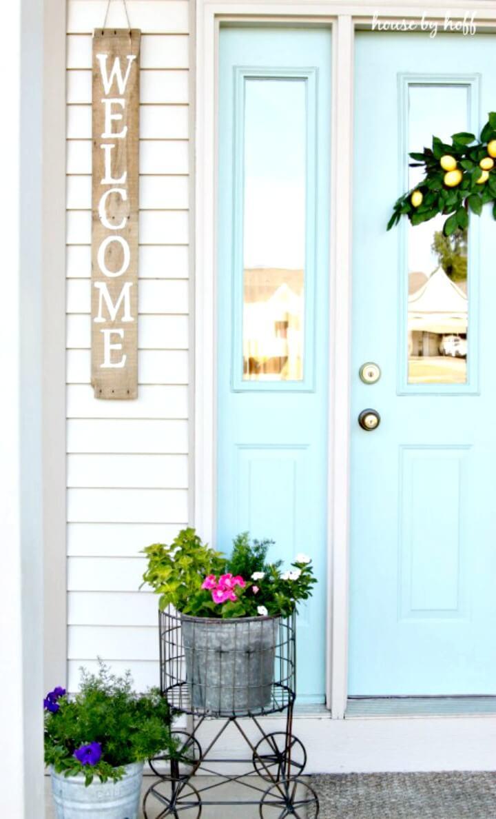 Cómo hacer un letrero de bienvenida para la puerta principal - DIY