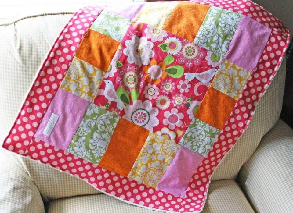 Cómo hacer una manta de patchwork para bebé