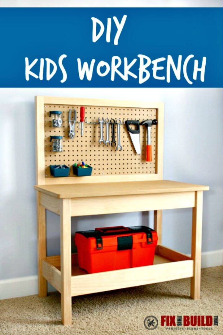 Tutorial fácil de cómo hacer un banco de trabajo para niños
