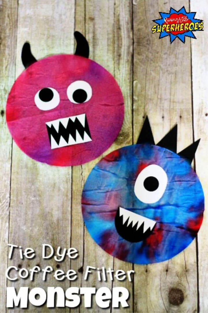 Cómo hacer un monstruo con filtro de café Tie Dye