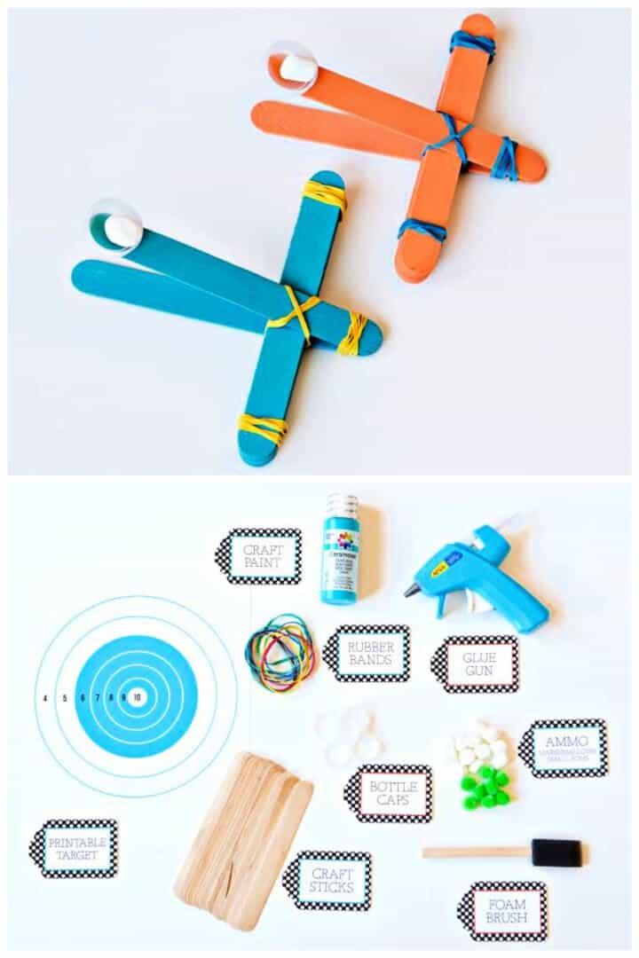 Cómo hacer una catapulta de malvavisco de juguete