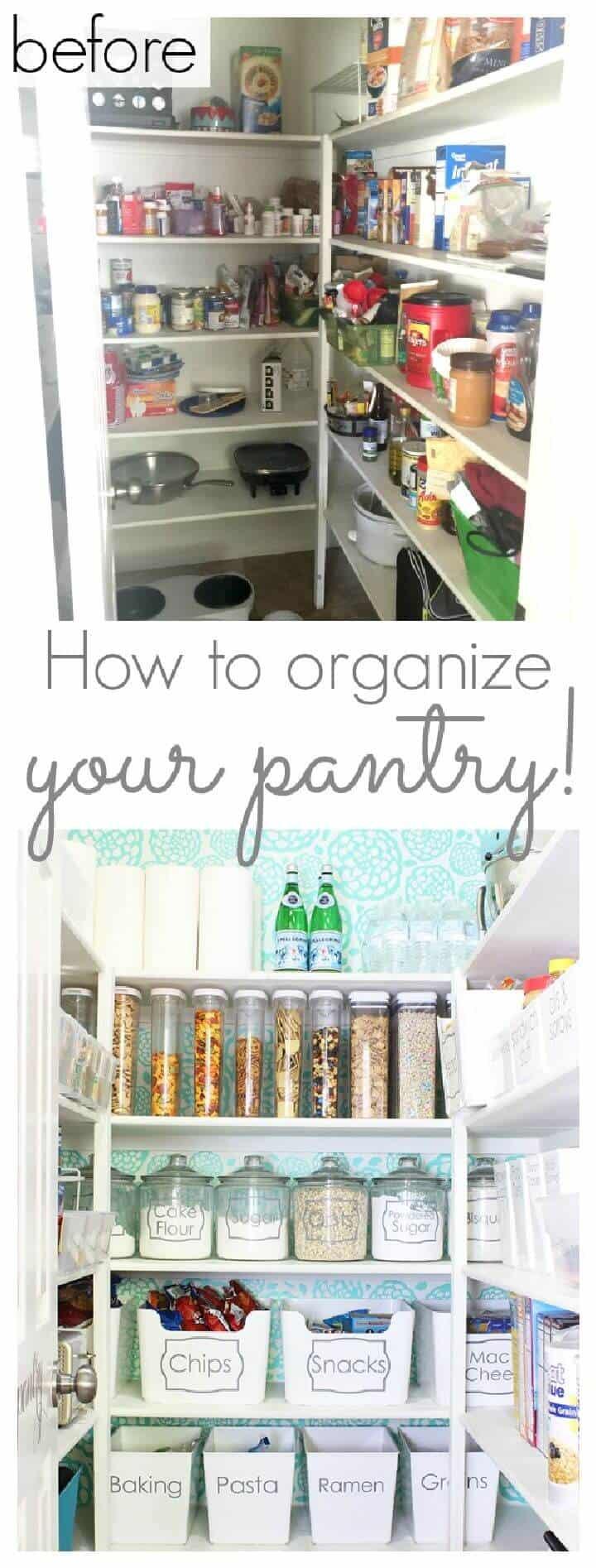 Cómo organizar tu despensa