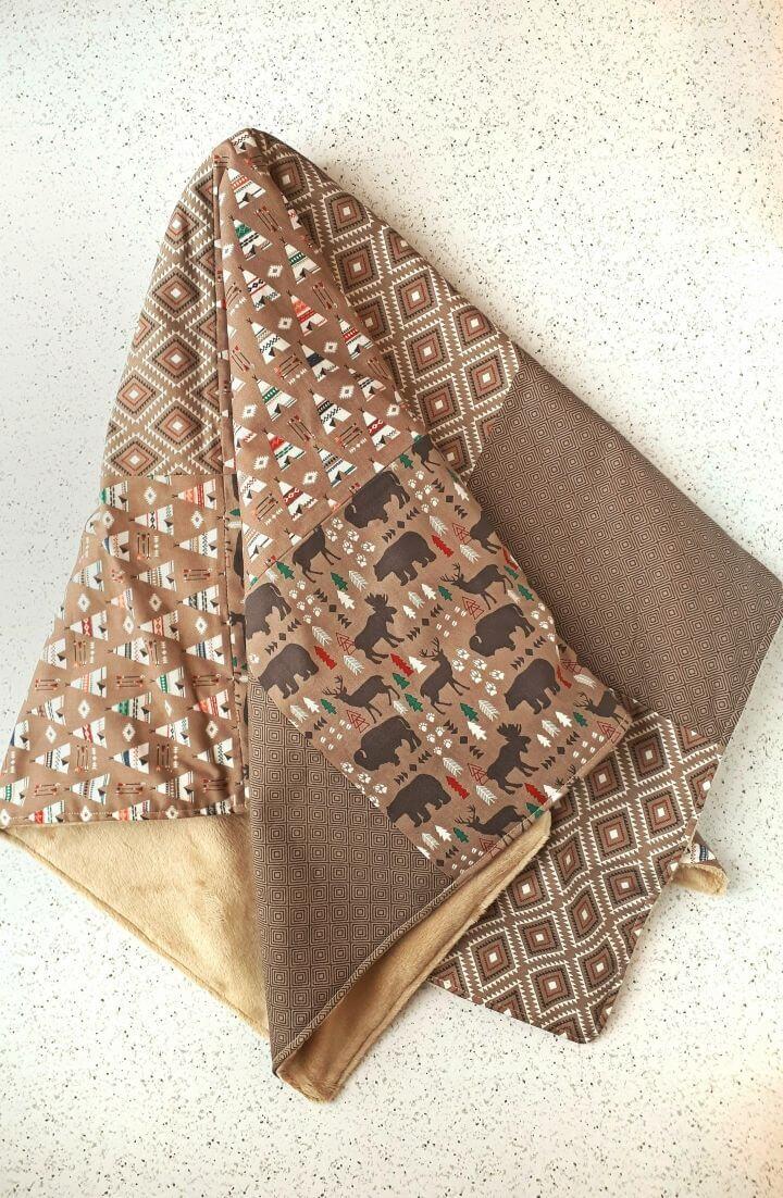 Cómo coser una manta de retales para bebé