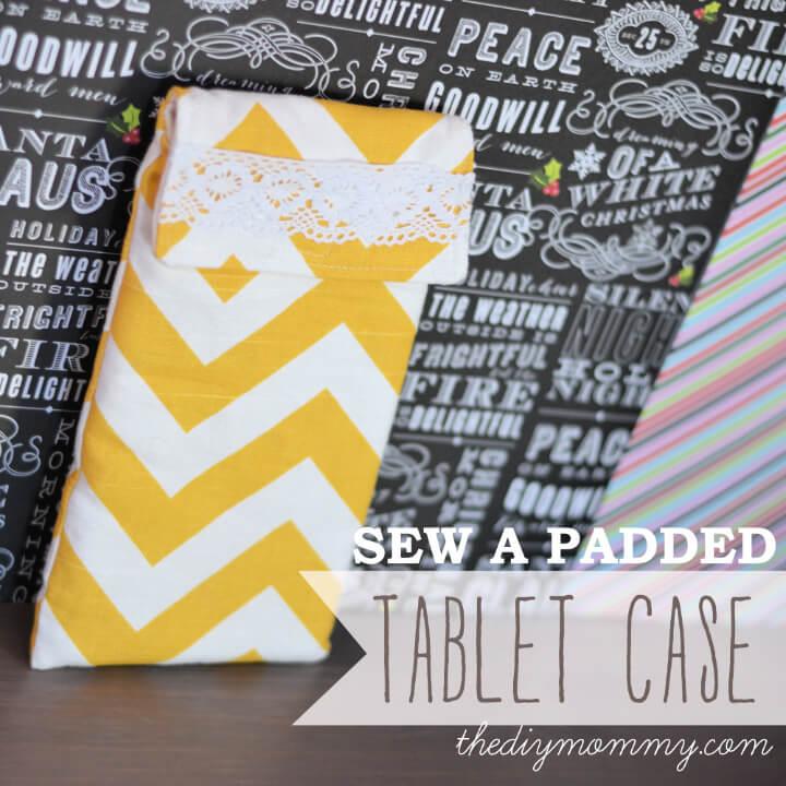 Cómo coser una funda acolchada para tableta